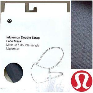 NWT  •LULULEMON•  Ash Grey Double Strap Mask